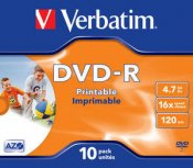 Verbatim DVD-R 4.7GB 16x 10-Pack Printable