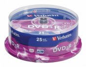 Verbatim DVD+R 4.7 GB 16x Spindle 25st