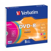 Verbatim DVD-R 5-pack Slim Case
