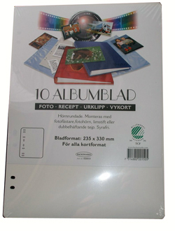 Albumblad Vit 10-pack